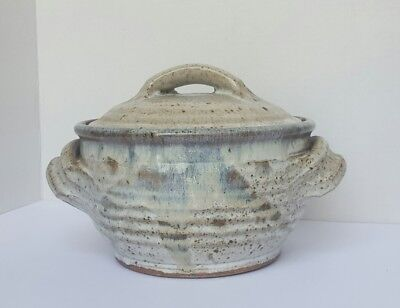 W & S Handthrown Pottery Tureen Covered Stoneware Dish - COLORADO signed