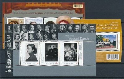 [G88910] Canada After 2000 3 good sheets Very Fine MNH