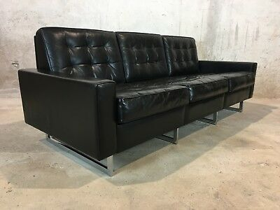 Canapé cuir année 70 De Sede DS 3A sofa Leather black 1970 design