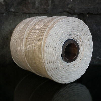 STRONG BLEACHED WHITE 2mm COTTON CORD TWINE - LARGE 200metre SPOOL CRAFTS PARCEL
