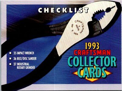 1993 Craftsman Tools Collectors Cards  - Pick Choose Your Cards