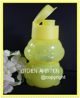 New TUPPERWARE Eco Bottle Kids Rabbit Yellow Bunny CLEARANCE SALE Water Snacks