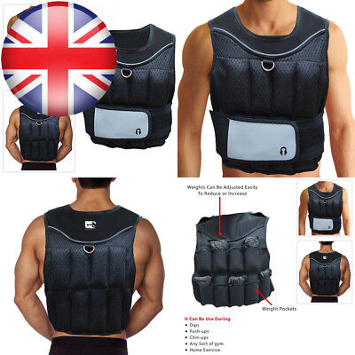 Branded Sporteq Adjustable Crossfit Weighted Vest 10KG for Weight Loss...