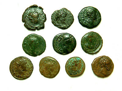 Lot of 10 Roman Provincial coins - Various emperors