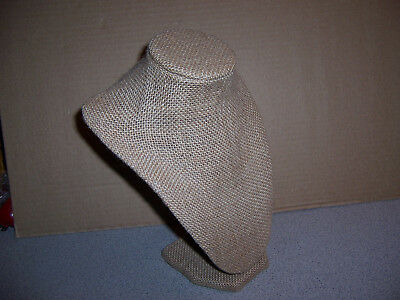 Excellent Burlap Jewelry Necklace Display Stand 100% Polyurethane