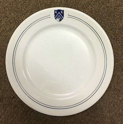 Syracuse China  Restaurant Ware Plate Railroad Cafe Steamship 3 Owls