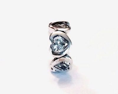 cc73a8090 NEW Authentic Pandora SPACE IN MY HEART CLEAR CZ Spacer 791252CZ Sterling  Silver