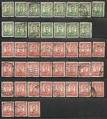 Southern Rhodesia (1937) Scotts #42-43 small horde for cancels/shades? $10.50