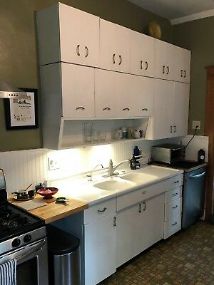 Youngstown Kitchen porcelain steel cabinets and sink