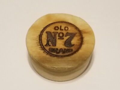 Jack Daniels Wooden Whiskey Barrel Cork Bung Plug No7 Logo
