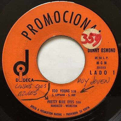 DONNY OSMOND • Too Young • RARE 45 PROMO EP • GUATEMALA PRESS • THE OSMONDS