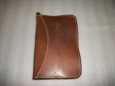 "Mulholland Brothers Leather Organizer Day Planner Address Book 9 1/4"" X 6 1/4"""