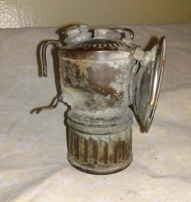 Antique Coal Mining Miners Brass Carbide Lamp Lantern. (#2)