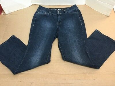 Lane Bryant Womens Boot cut Tighter tummy technology sz 16 dark wash blue jeans