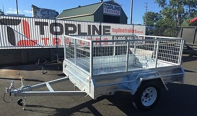7x5 Hot Dip Galvanized Tilt Box Trailer with 600mm Cage
