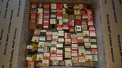 Lot of 100 Vintage and NOS Vaccum Tubes RCA Raythoen Telefunken Sylvania TungSol