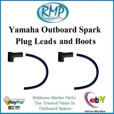 A Brand New Set x 2 Yamaha Outboard Aftermarket Spark Plug Leads and Boots