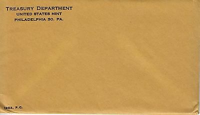 1963 US Mint Proof set  Sealed envelope CP3007-1
