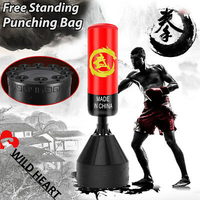 168cm Free Standing Punching Bag Boxing Bag RED Home Gym MMA Target Dummy Kick