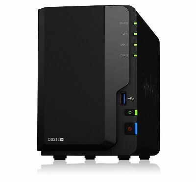 Synology DiskStation DS218+ 2 Bay Diskless NAS Dual Core CPU 2GB RAM