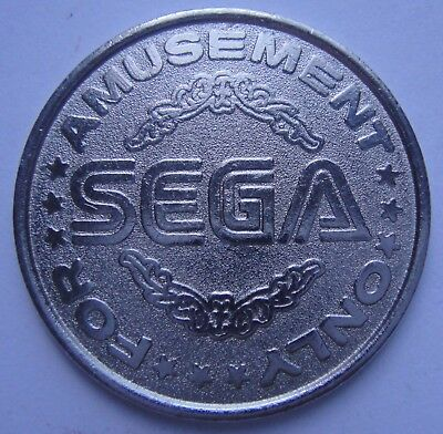 SEGA METAL GAMING TOKEN For Amusement Only Excellent Condition