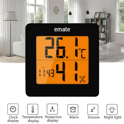 Digital Hygrometer Thermometer Indoor Temperature & Humidity Monitor backlight