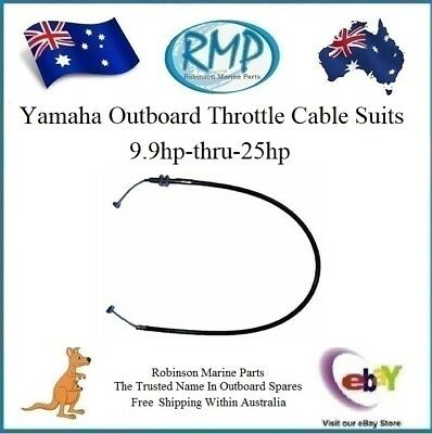A Brand New Outboard Throttle Cable Suits Yamaha 9.9hp-thru-25hp R 6L2-26301-00