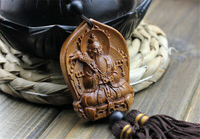 Rose Wood Carving Chinese Taoism Lord Lao Zi God Car Pendant Amulet Crafts 道德天尊