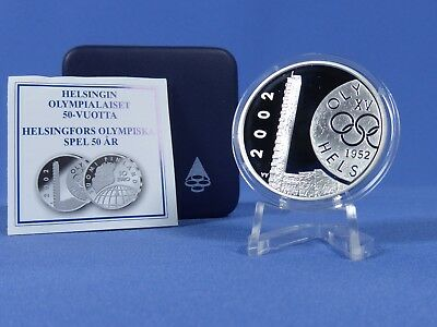 Finnland 10 Euro 2002,a.d Sommerspiele 1952 ,Silber *PP/Proof*( 10210)