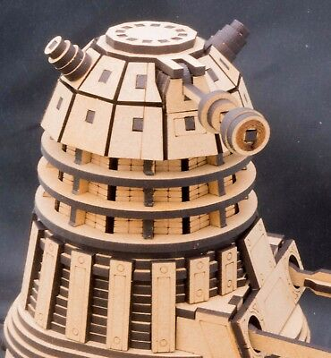 Dalek Dr Who. A laser cut 3D Model
