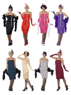 20s Kostüm Flapper Charleston Kleid Lang