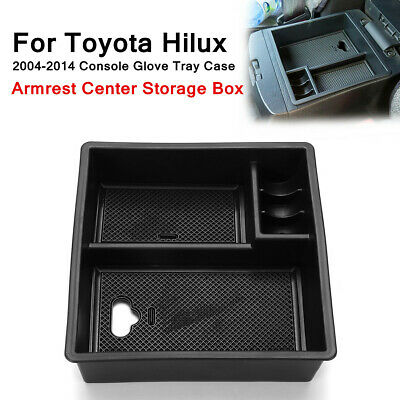 Armrest Center Console Storage Box For Toyota Hilux 2004-2014 Glove Tray Case