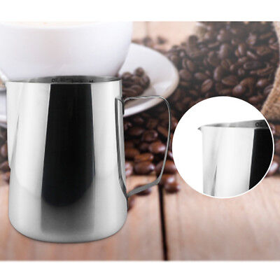 Stainless Steel Espresso Coffee Pitcher Craft Latte Milk Frothing Jug Home Cup*1