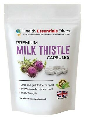 Milk Thistle Capsules High Strength 1 a Day (Detox, Liver, Gallbladder Health)