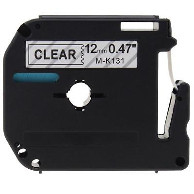 1 PK M-K131 MK131 Compatible for Brother P-touch Label Tape Black on Clear PT65