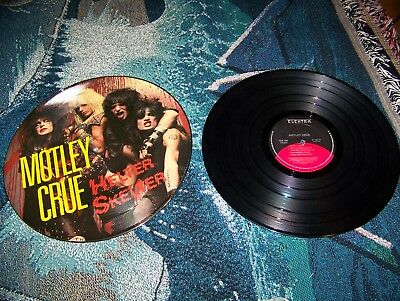 2 LP Record Lot MOTLEY CRUE HELTER SKELTER Picture Disk & TOO FAST FOR LOVE