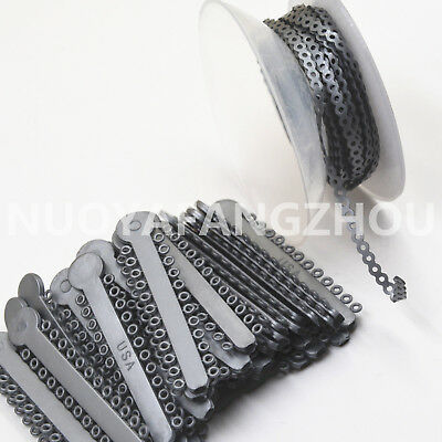 Ligature Tie & Power Chain Dental Orthodontics Elastic Bands Brace Silver/Gray