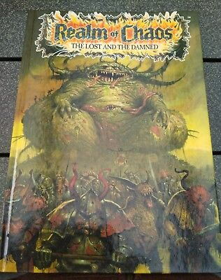 Warhammer 40.000 realm of chaos book the lost and the damned rar selten