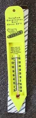 Vintage DEKALB HYBRIDS Plastic THERMOMETER....MINT IN BOX!!