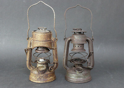 TWO  FEUERHAND ATOM No. 75 MINIATURE  LANTERNS WW2 GERMAN