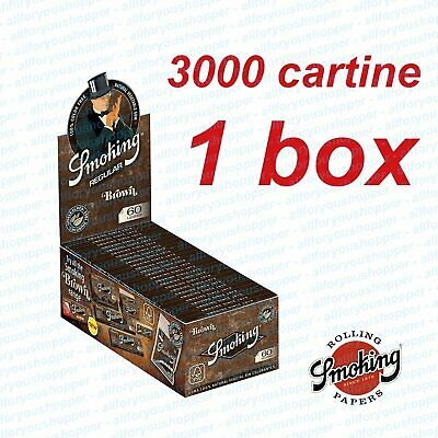 Cartine  Marroni Smoking Brown Corte 1 Box 50 Libretti 3000 Fogli