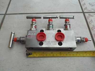 Oliver Valves Y53S Stainless Steel Process Needle 5 Valve Isolation Manifold