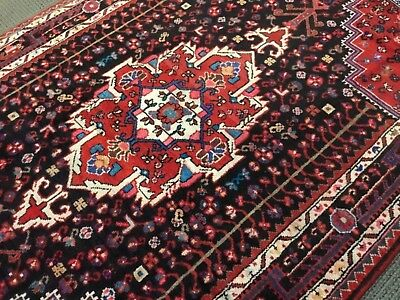 Spectacular Tribal Vintage Authentic Persian area Rug 4 x 7 woven A+ Rare