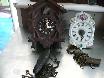 Vintage Cuckoo Clock And Weight,and One Other