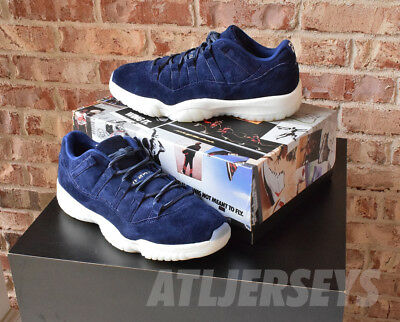competitive price bcf72 f696b Nike Air Jordan 11 XI Retro Low Derek Jeter RE2PECT Binary Blue AV2187-441