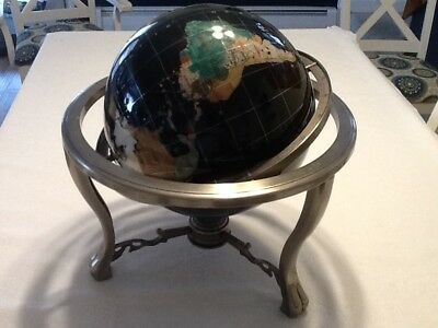 Fine 36 tall gemstone replogle library floor globe 9900 picclick gemstone world map globe 21 tall planet earth learning geography on a tripd gumiabroncs Image collections
