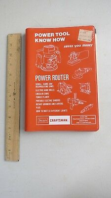 Power Tool Know How--Power Router By Sears Craftsman, 1981 Soft Bound