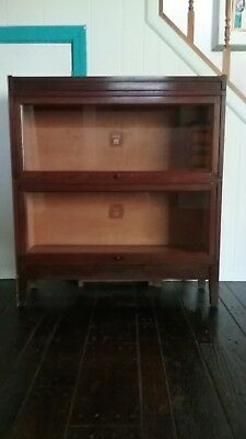 Antique Macey Wernicke Mahogany Sectional Barrister Stacking Elastic Bookcase