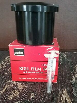 Vintage YANKEE Roll Film Tank w/ Thermometer Agitator w/ box tank developing