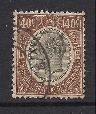 TANGANYIKA  1927-31  40c yellow-brown  SG99  FU